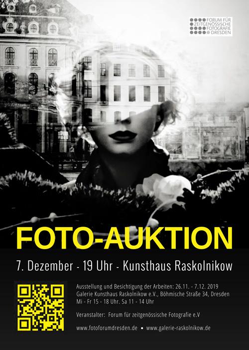 Plakat für Fotoauktion