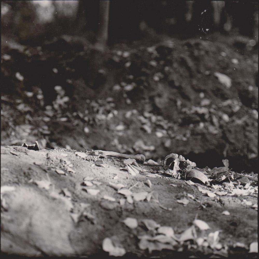 Foto aus der Serie Tag des Sieges, menschlicher Schaedel, Russland, 1998
