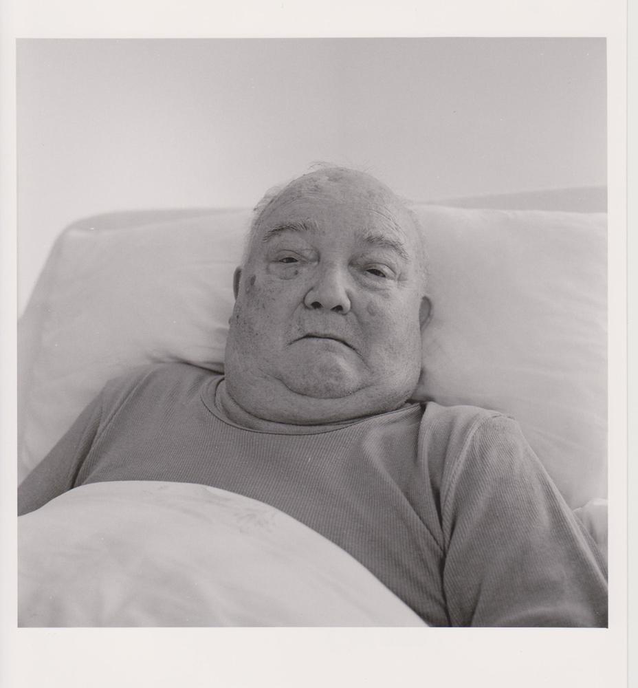Portraitfoto aus der Serie Veteranen, deutscher Kriegsveteran, Heidenau 2004