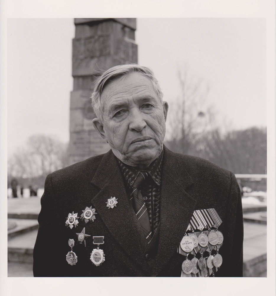 Portraitfoto aus der Serie Veteranen, russischer Kriegsveteran, Kaliningrad 2003
