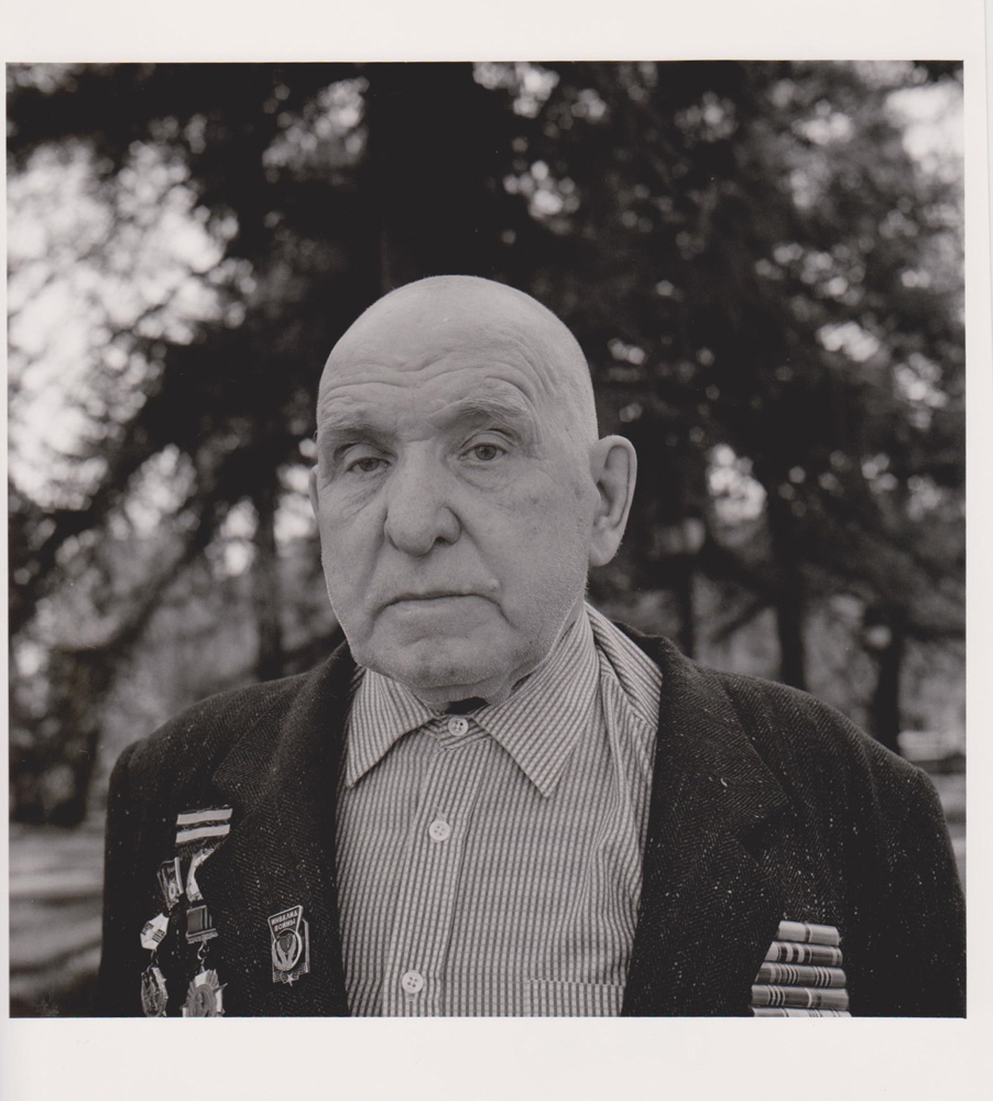 Portraitfoto aus der Serie Veteranen, russischer Kriegsveteran, Moskau 2000