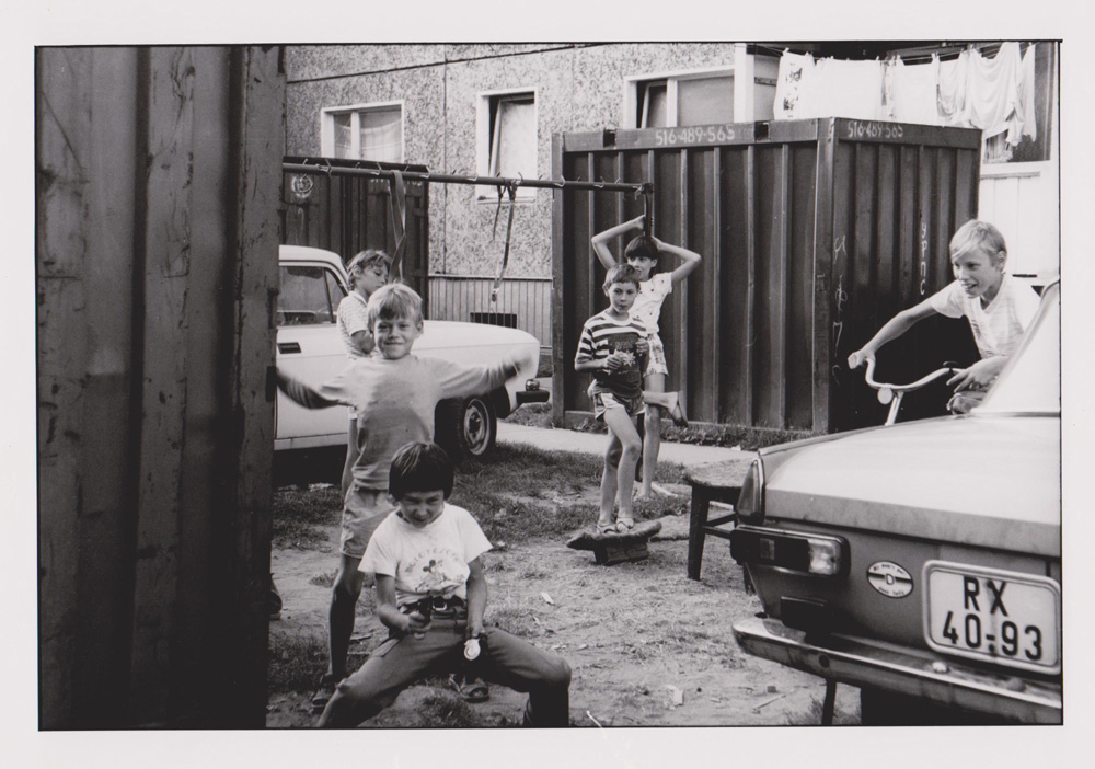 Foto aus der Serie Woher Wohin, verboten Zone, Dresden, 1992